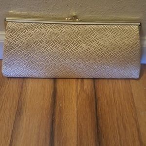 Vintage Woven Clutch with inner handle HL USA